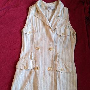 Vintage cream shirtdress